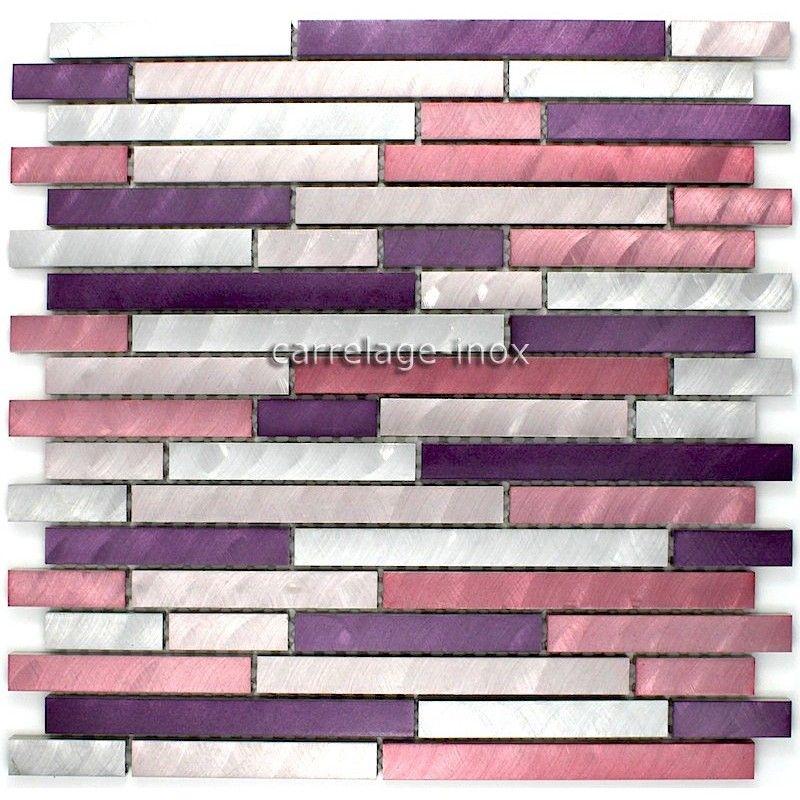 Mosaique aluminium carrelage cuisine cr dence blend violet mosaique en aluminium kitchen - Mosaique et carrelage ...