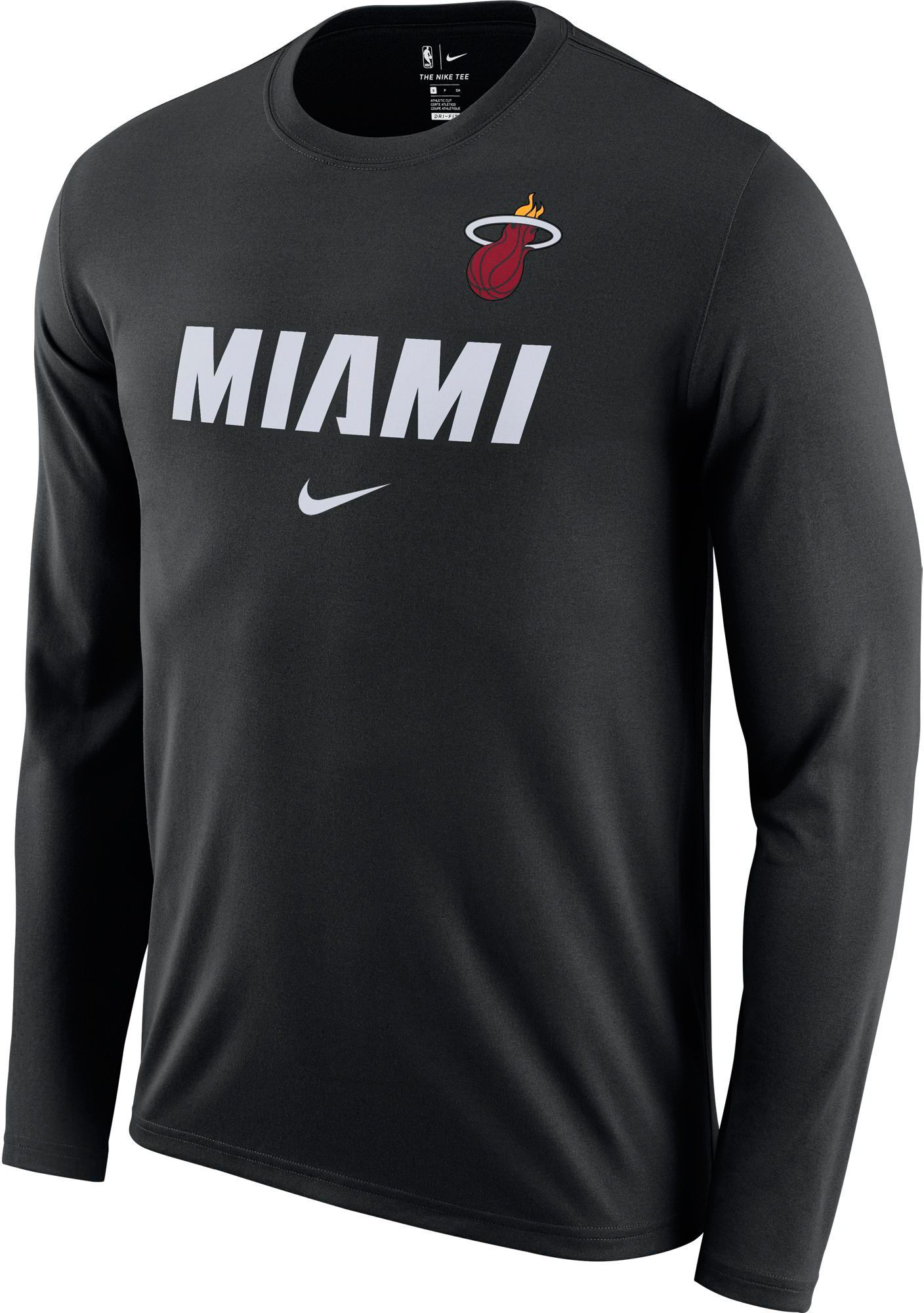 big sale 8cb62 cd881 Nike Men's Miami Heat Dri-FIT Facility Long Sleeve Shirt ...