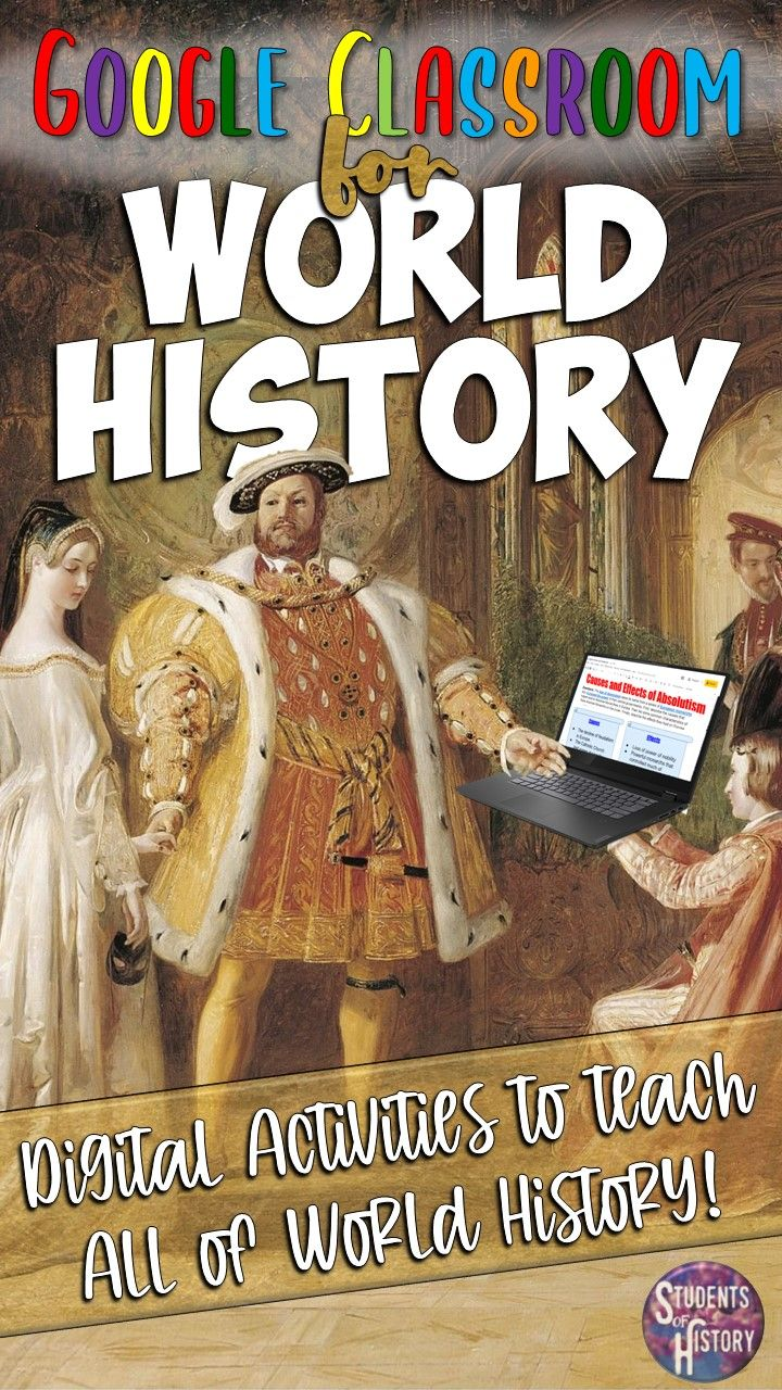 Google Classroom Resources for World History