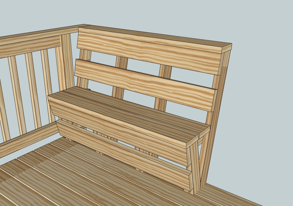 Deck Benches Built In Deck Railing Bench Plans, Custom