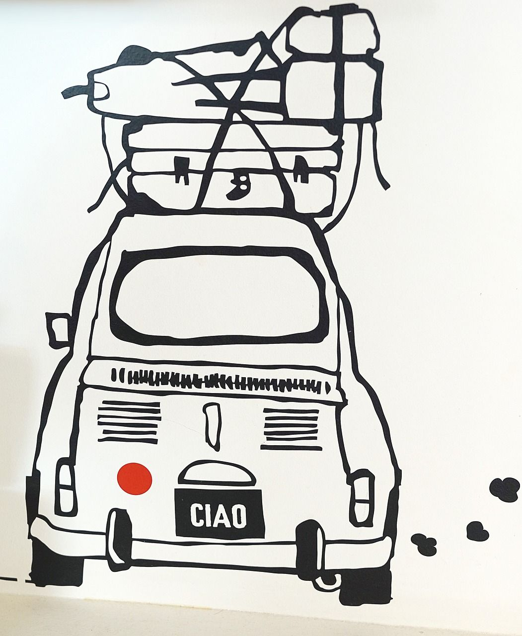 Fiat 500 Abarth Caricature Retro Car Art MUG New