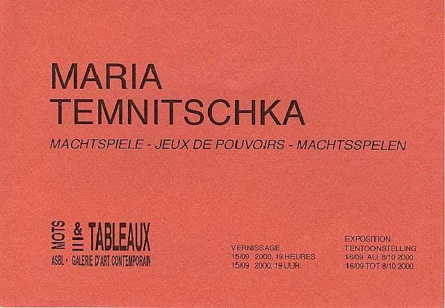 Maria Temnitschka - Expo Bruxelles 2000