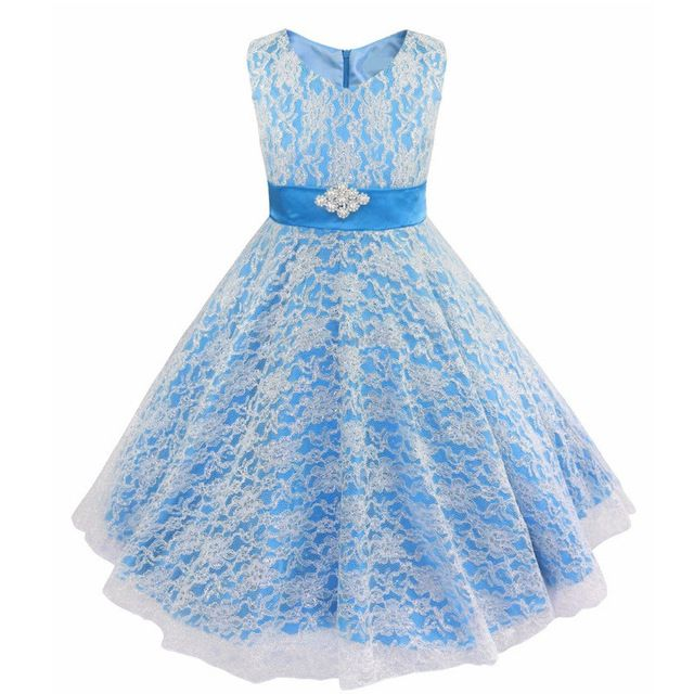 Fashion Gold Line Ribbon Girls Party Dress Children Teenagers Prom ...