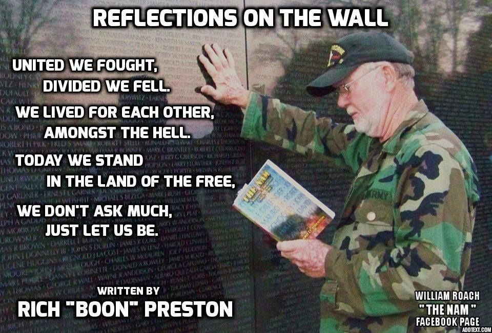 Reflections On The Wall Vietnam Memorial Poetry Quotes