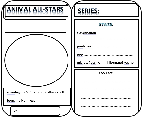 Take Your Learning With You Wherever You Go Animal Trading With Printable Superhero Trading Card Template Dail In 2021 Trading Card Template Card Template Templates