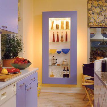 Regalbeleuchtung | Küchenregal, Indirekte beleuchtung und Blickfang