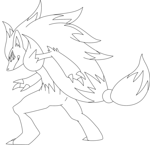 Zoroark Coloring Page Coloring Pages Pokemon Coloring Pokemon Zoroark
