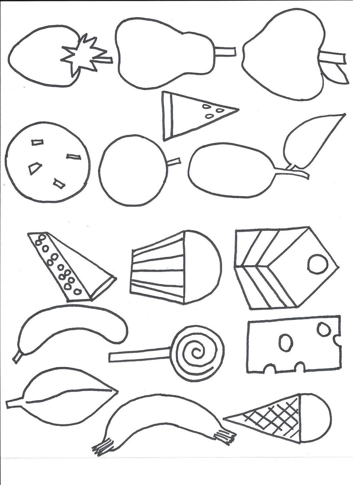 hungry caterpillar coloring pages - photo#26