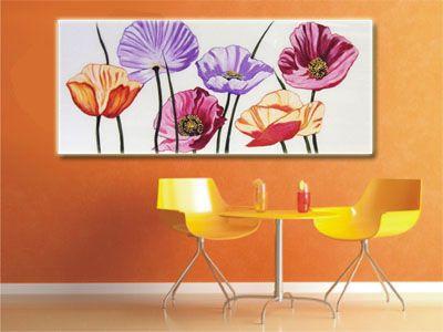 cuadro de flores pintado a mano