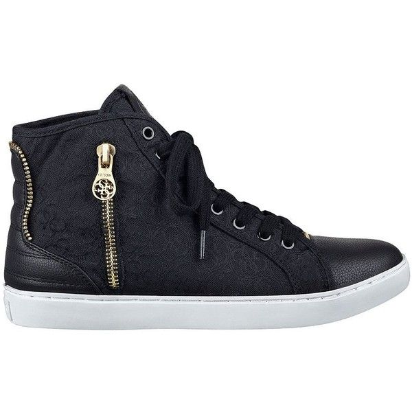 GUESS Rizal Zippered High-Top Sneakers