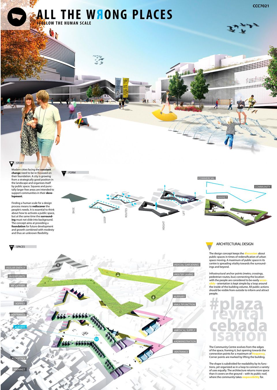 Poster design architecture - Winners Of The Competition Cebada Community Centre Architecture Presentation Board Pinterest