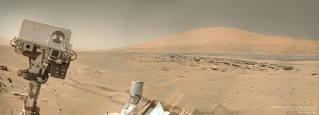 Mars, by Curiosity. Taken 11 April 2015.