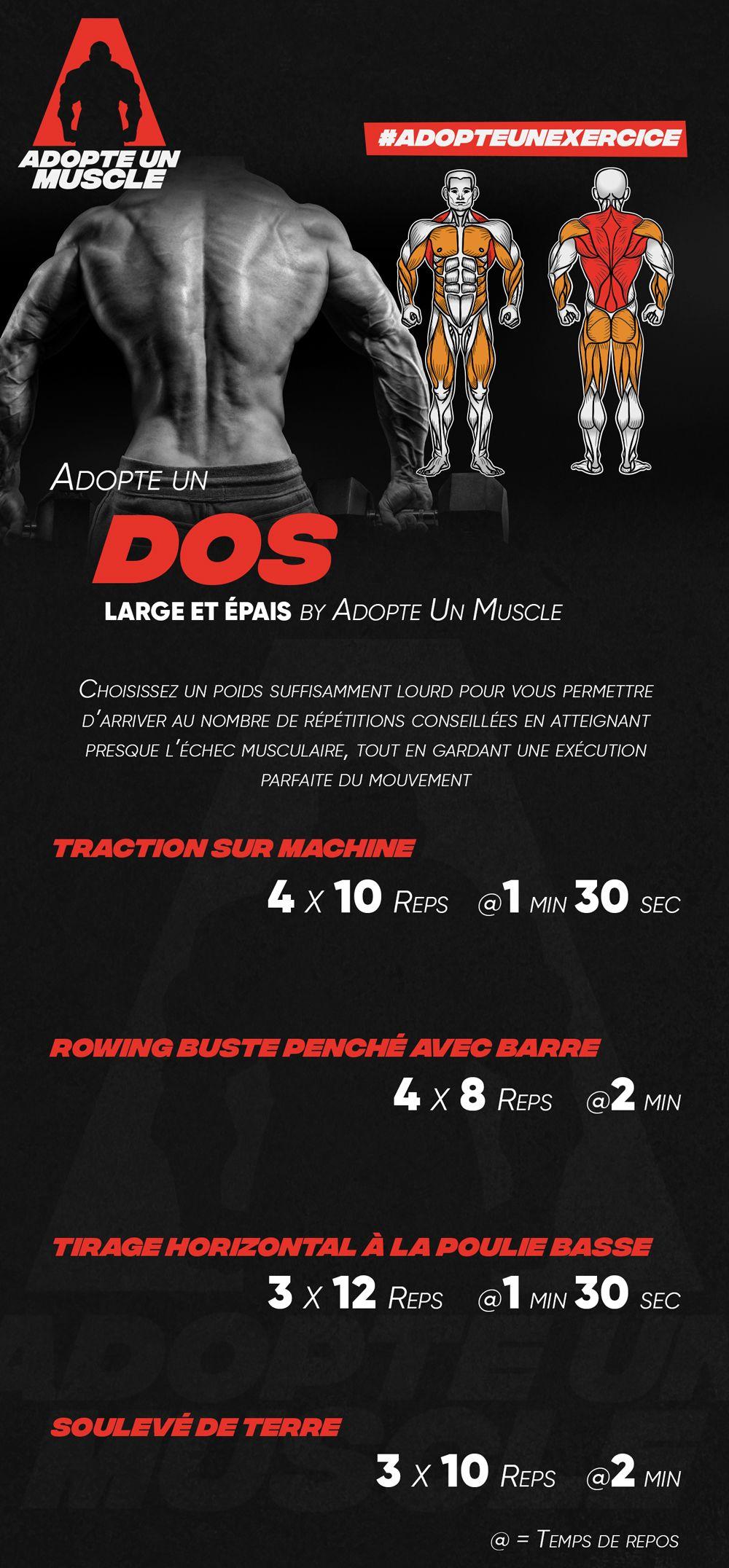 Adopte Un Dos Large Et épais By Adopte Un Muscle Prog Programme Routine Split Musculation Dos Ex Programme Musculation Homme Musculation Musculation Dos