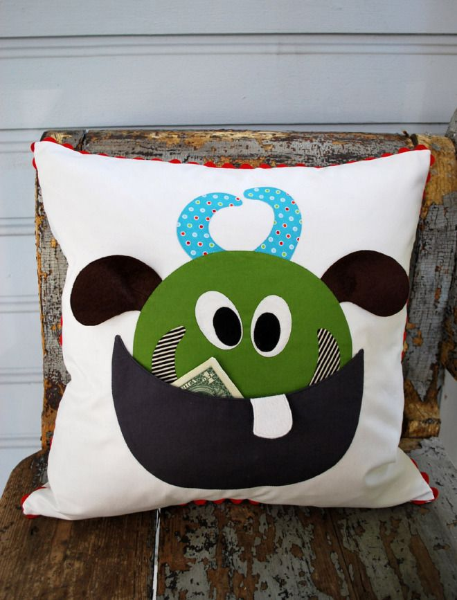 Sneek K Monster Tooth Fairy Pillow The Piper S