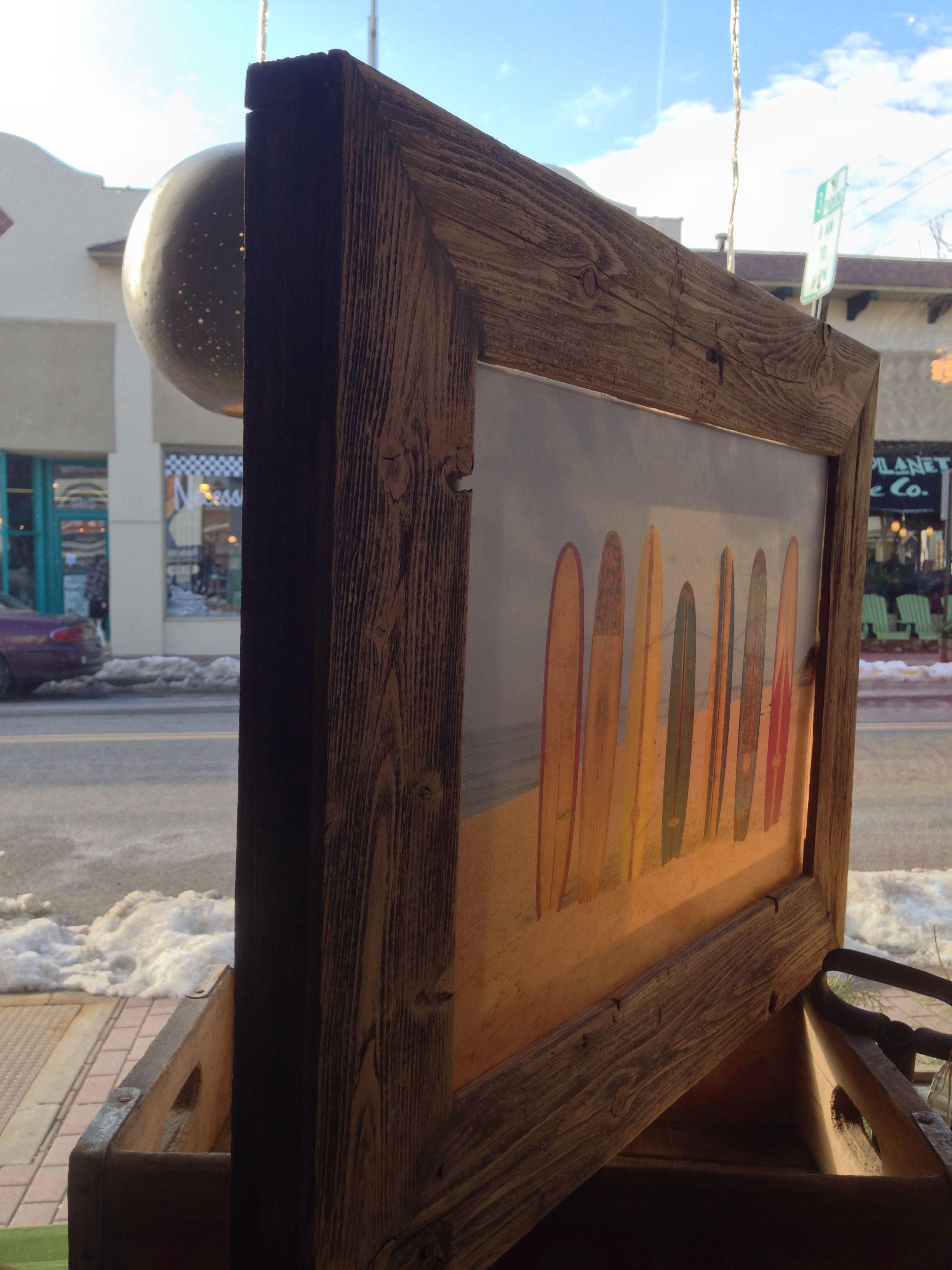 3 depth frame for canvas prints custom reclaimed wood frames