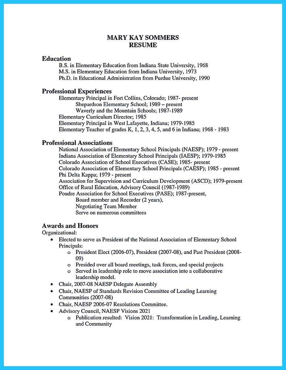 at the beginning part of assistant principal resume you can write the paragraph which describes - Free Assistant Principal Resume Templates