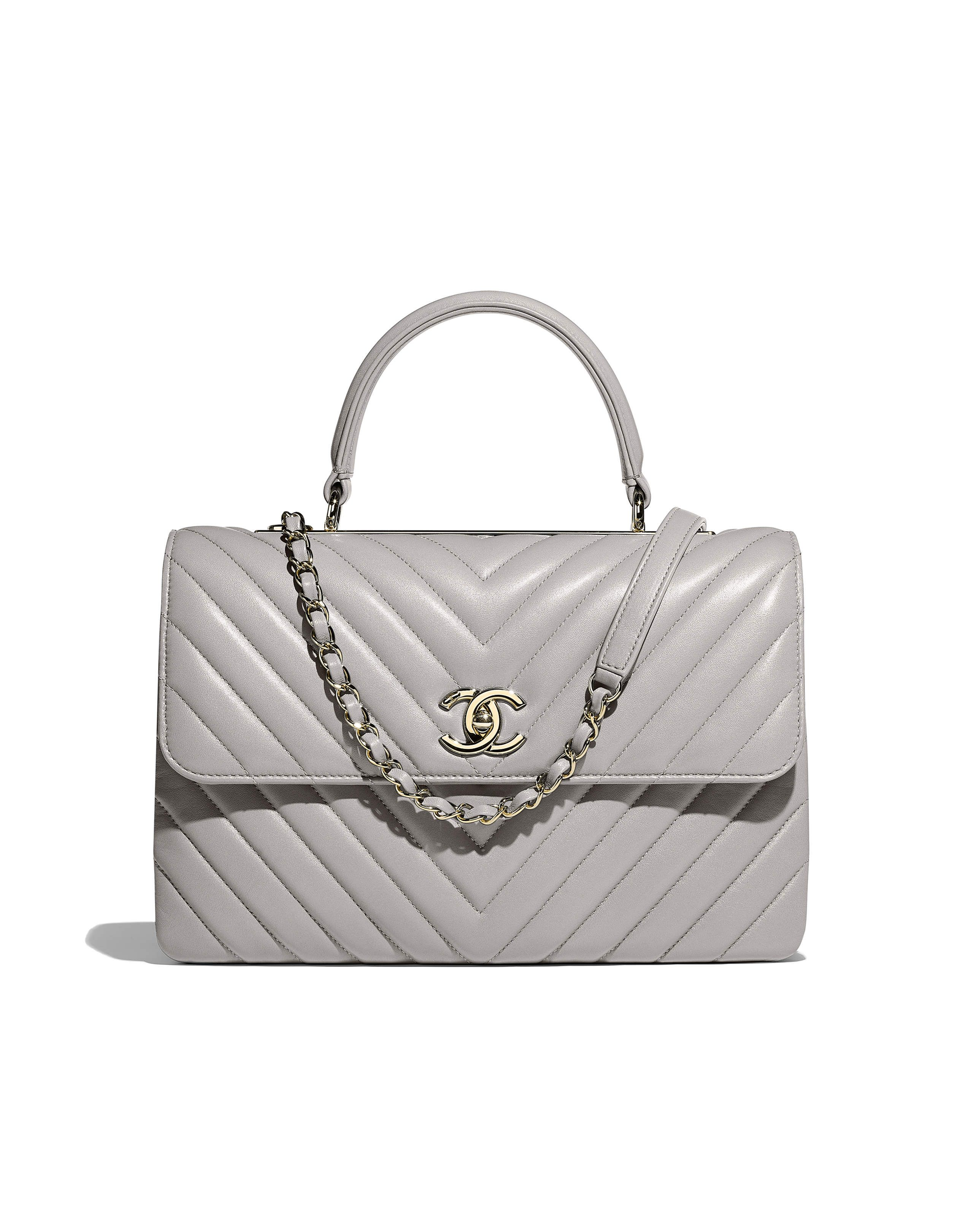 acc3053c490c8a Spring-Summer 2018 Pre-Collection - lambskin & gold-tone metal-gray ...
