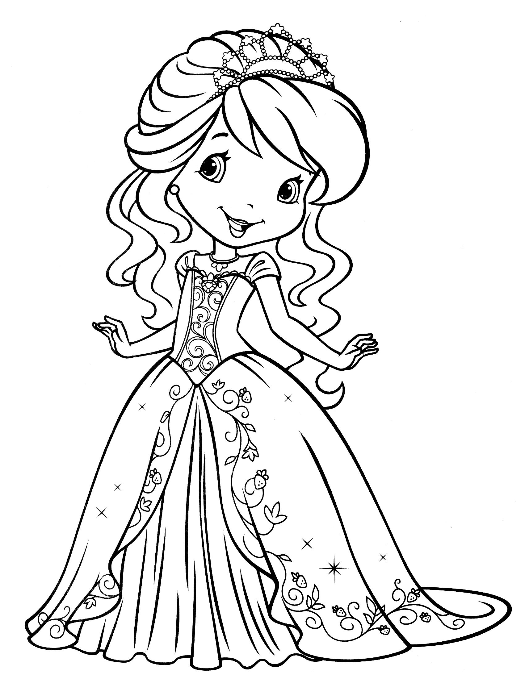All princess coloring pages - Strawberry Shortcake Printables Strawberry Shortcake Coloring Page 12