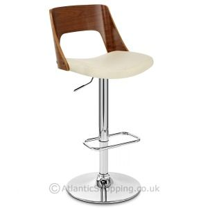 the latest 1ab9d 0c136 Carmen Leather Stool Walnut & Cream | Dining room | Leather ...