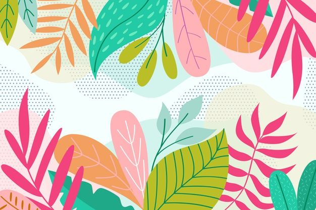 Download Flat Design Abstract Floral Background fo