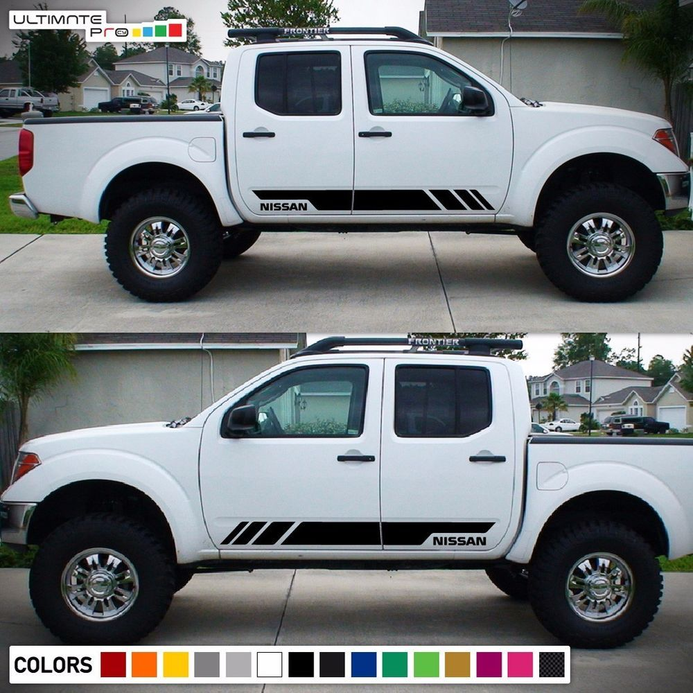 Decal sticker graphic side stripe kit for nissan frontier d22 2004 2010 2011 015 ultimateprocy1ulti10deca15