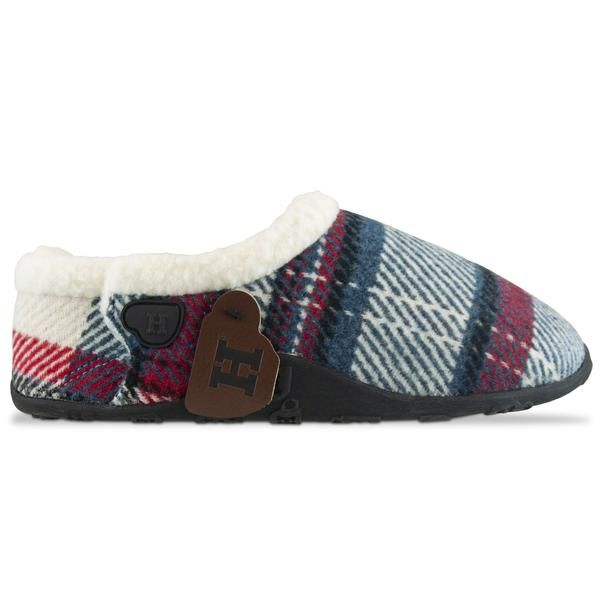 Photo of Homeys Hannah Womens Slippers In Blue Red White Check – Trouva