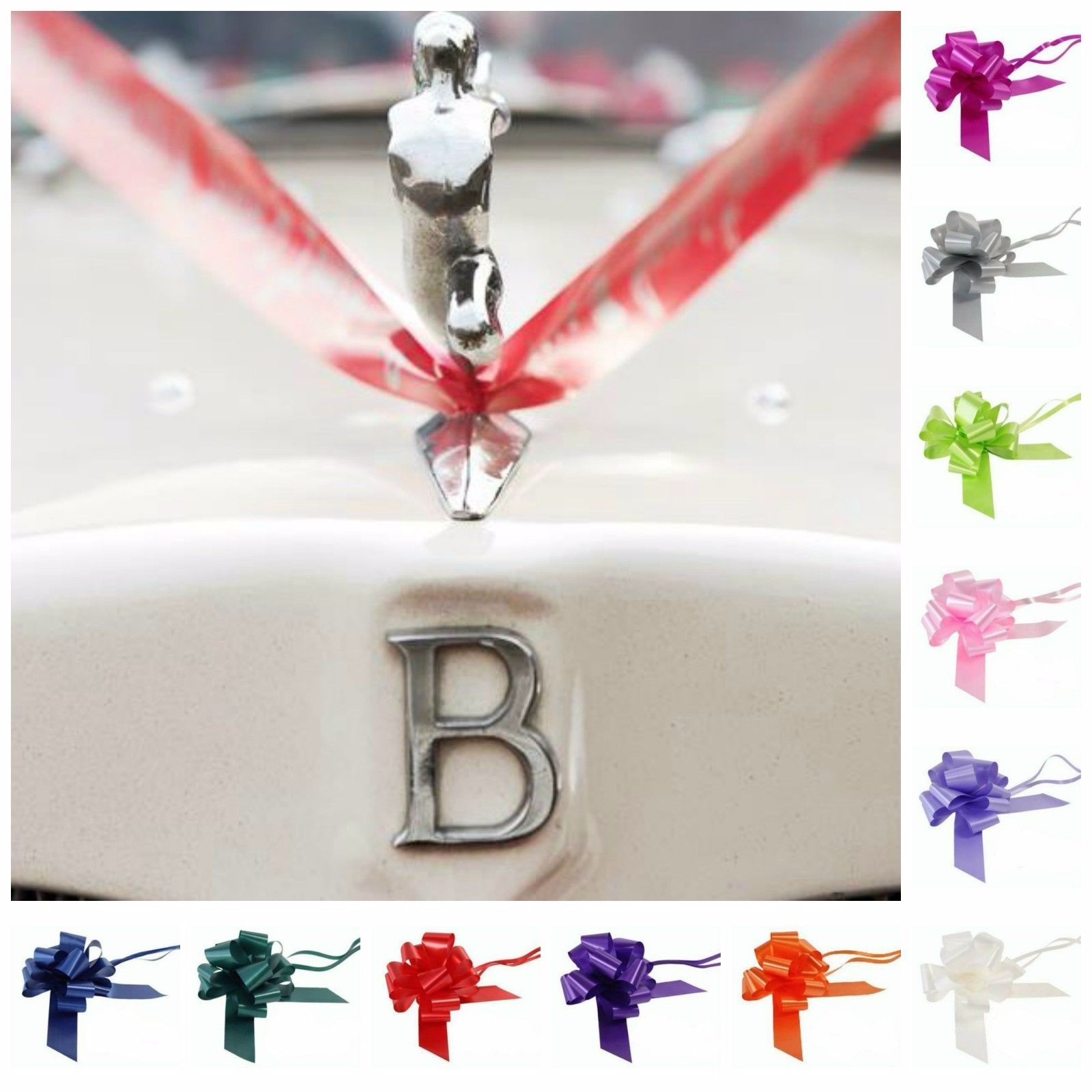 Wedding car decoration ideas  Wedding Car Decoration Kit  Metreus Ribbon  Or  Large Mm Bows