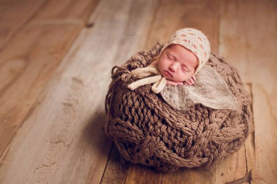 Vine basket newborn photography prop basket by knitsandblooms