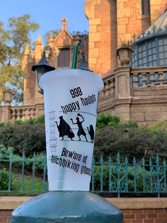 Haunted mansion starbucks tumbler, foolish mortal disney cups, disney villain starbucks tumbler, personalized cold cup #disneycups