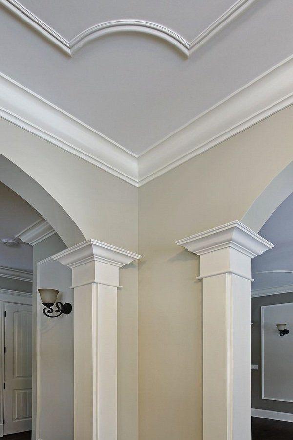 Home Renovation Tips Ideas Best Crown Molding Materials Pros Cons Diseno De Techo Decoracion De Unas Disenos De Unas