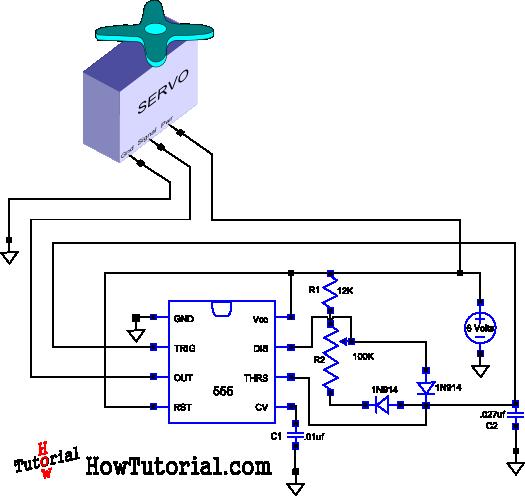 3ba9e933175da6176e59fdda4bd2c1e2 servo driver circuit schematic electronics pinterest arduino RC Servo Wire Colors at eliteediting.co