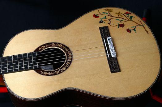 Flamenco Flowers Guitar Beautiful Guitars Music Instruments