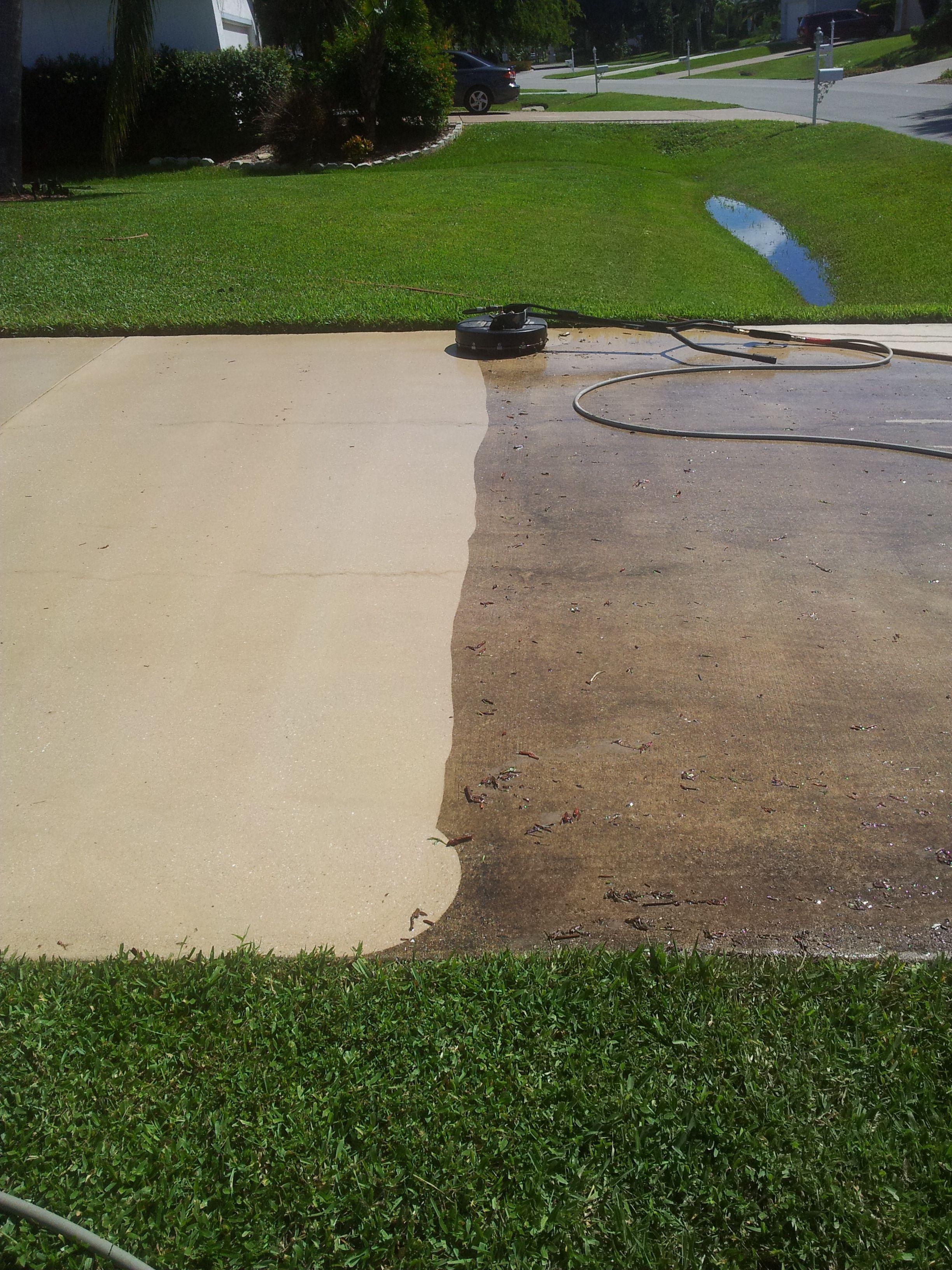 Pressure Cleaned Driveway Cleaning Pressure Washer