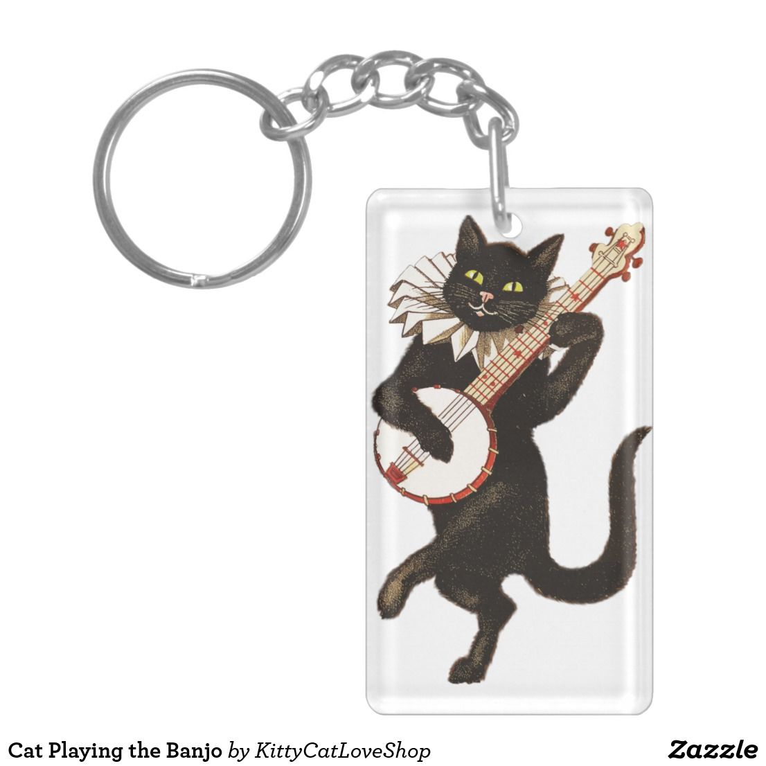 Cat playing the banjo kitty cat love shop pinterest kitty and cat