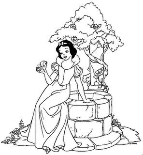 Imagens Para Colorir Branca De Neve Desenhos E Riscos Paginas