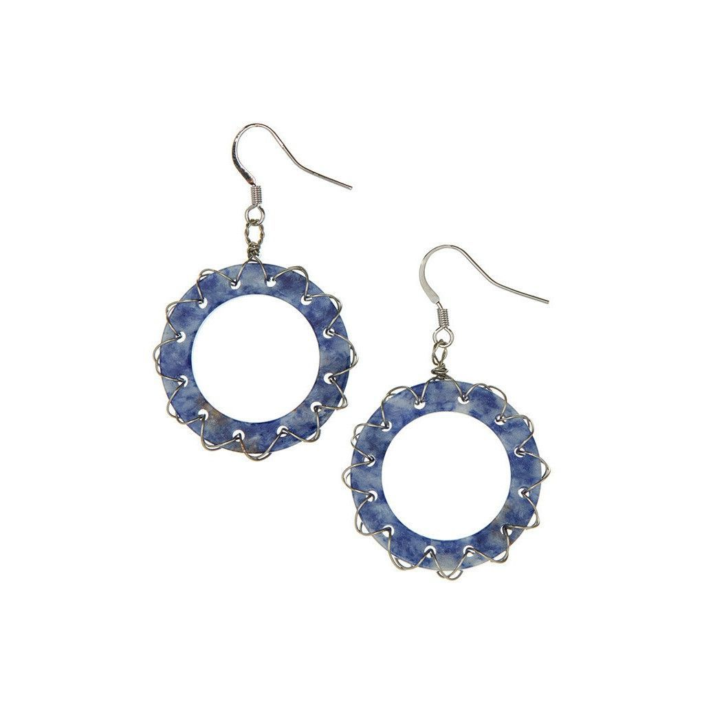 Buy Wire Wrapped Stone Hoop Earrings at www.ettuet.com for only ...