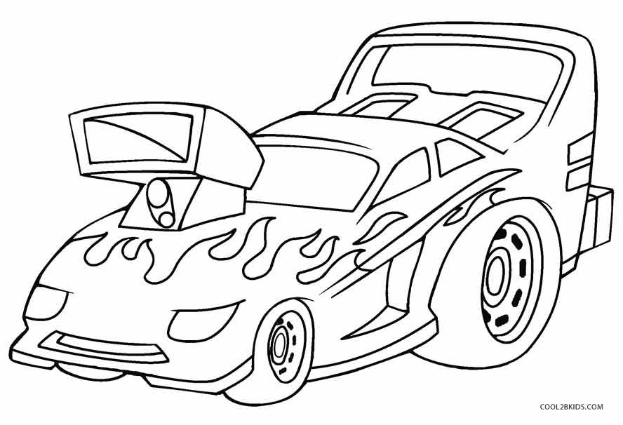 Hot Wheels Coloring Pages With Images Truck Coloring Pages