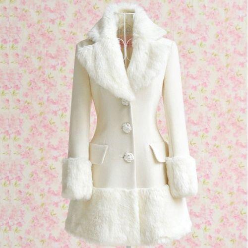 Witte Dames Winterjas.Halflange Witte Dames Winterjas Sanne Winter Fashion Coat En