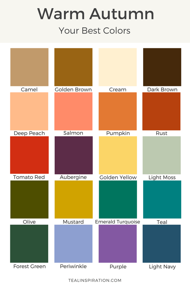 Image result for what is warm autumn color palette