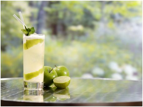 Garden of Eden Cocktail.  Ingredients:  50ml Gordon's gin (I would use Bombay Sapphire or Hendrick's)  10ml bottlegreen Elderflower Cordial  10ml lime juice  6 torn mint leaves  60ml cloudy apple juice  Glass: Highball  Method  Shake all ingredients with ice  Strain into ice-filled highball glass  Garnish with apple skin & mint sprig