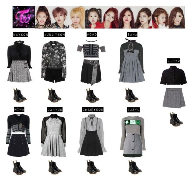 """""""TWICE - LIKE OOH AHH❤"""" by mabel-2310 on Polyvore featuring Paul & Joe Sister, Narciso Rodriguez, River Island, Saloni, Alexander McQueen, Erdem, Dr. Martens, Louis Vuitton, Balenciaga and Alexander Wang"""