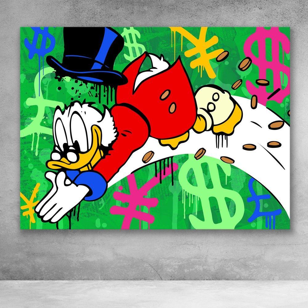Scrooge McDuck Money Dive Street Art in 2020 Pop art