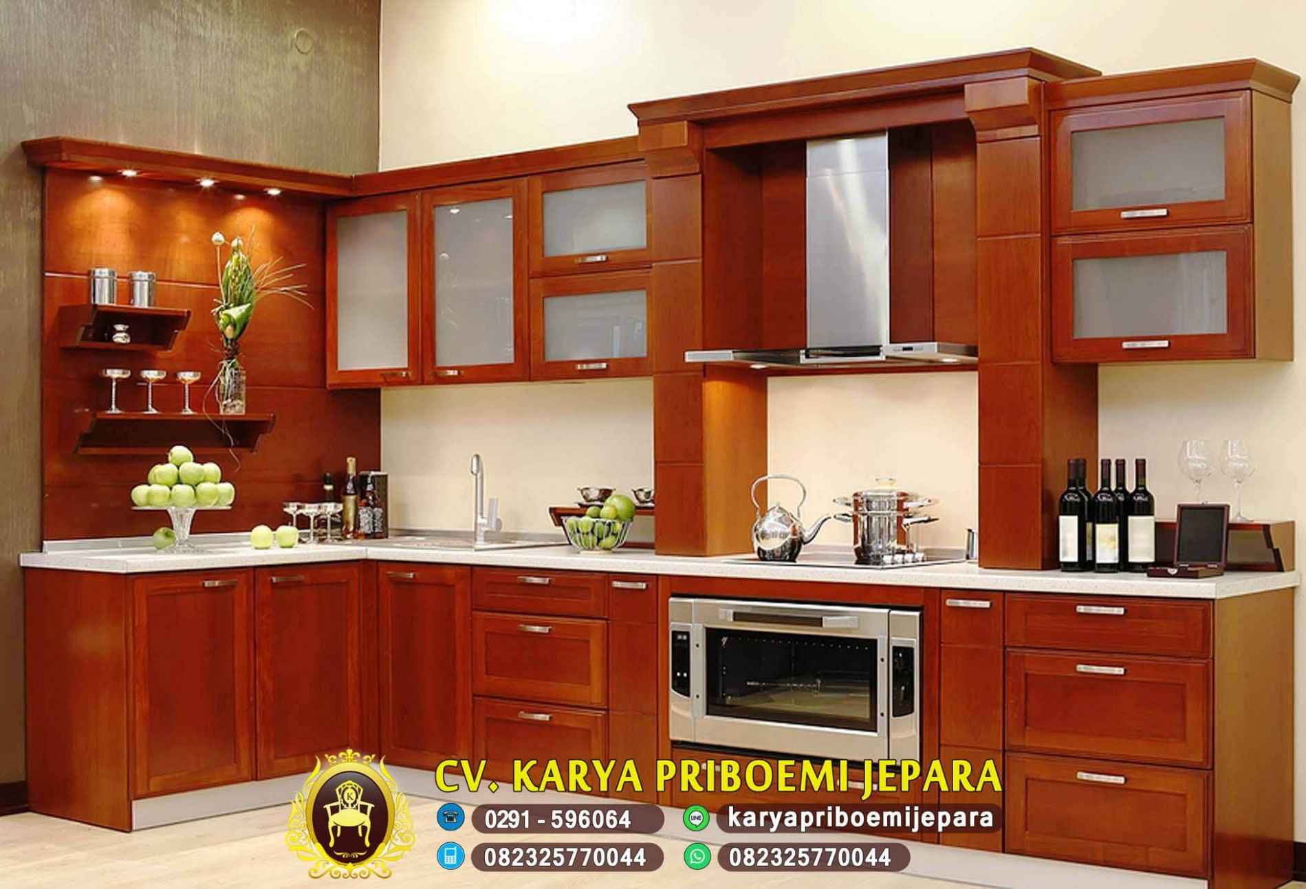 4+ Model Kitchen Set Minimalis Kayu Terbaik di 4  Desain