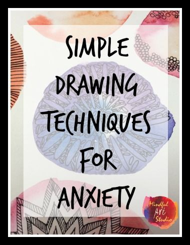 Simple drawing techniques for anxiety or coping skill