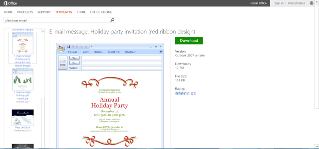 Simplify Christmas Events With Free Microsoft Office Templates Email Invitations Templates Holiday Party Invitation Template Holiday Party Invitations
