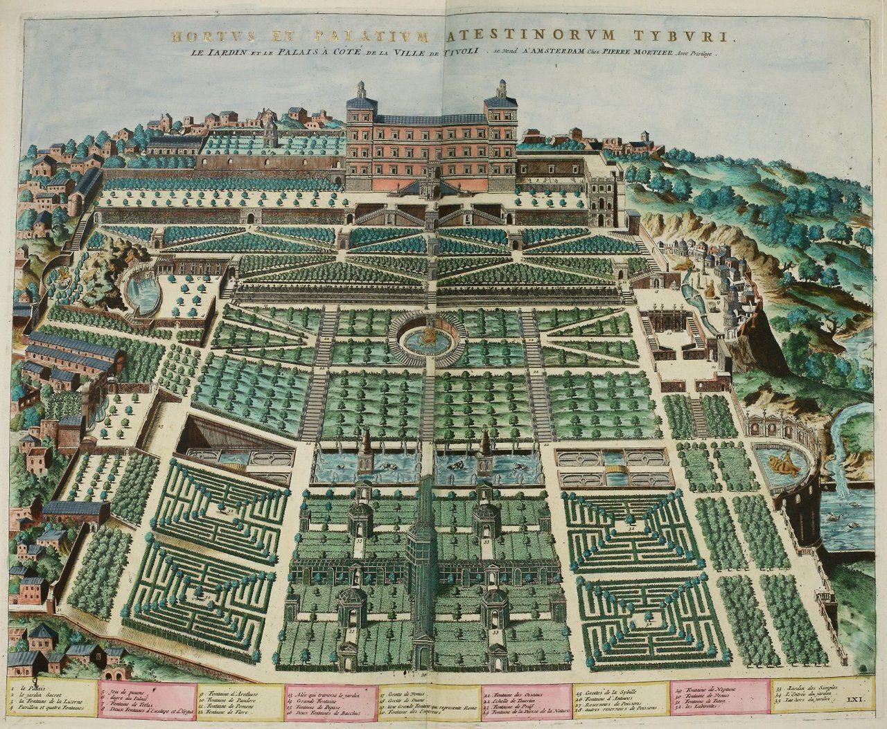 Bird S Eye Plan View Of The Gardens At Villa D Este