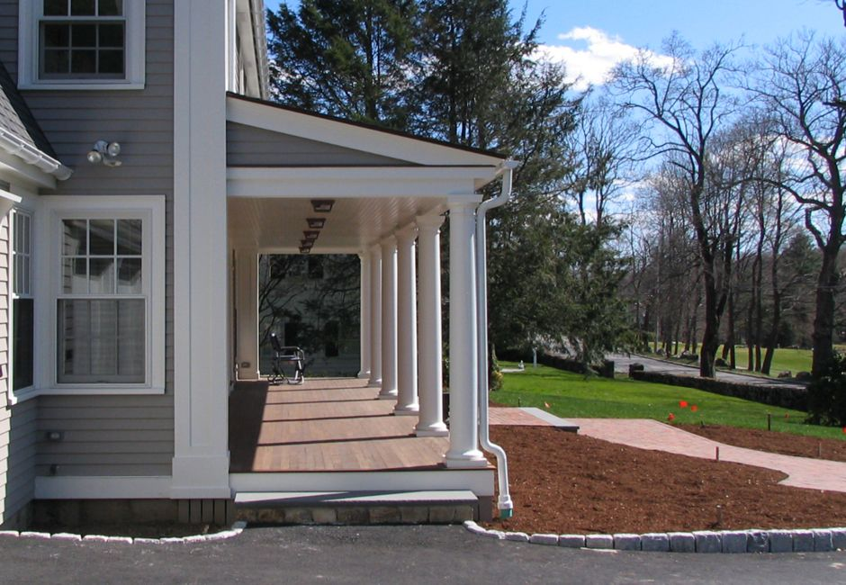 Federal Front Porch Addition Side View North Ave