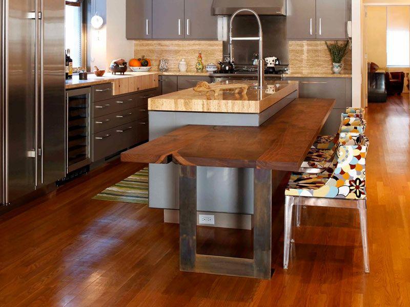 Multi-Level-Kitchen-Island-Granite-and-Wood-DailyHomeDecorate ...