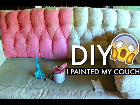 Painting Fabric With Annie Sloan Chalk Paint Youtube Painted Couch Chalk Painted Sofa Painted Sofa