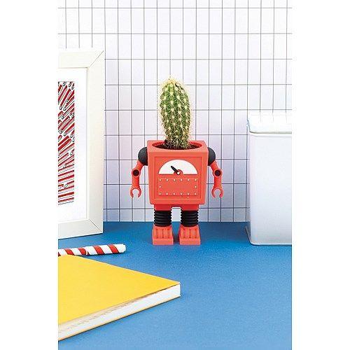 DOIY Bloempot Robot - Rood